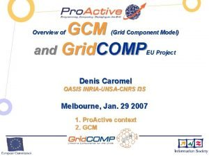 GCM and Grid COMP Overview of Grid Component
