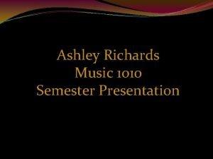 Ashley Richards Music 1010 Semester Presentation Clint Mansell