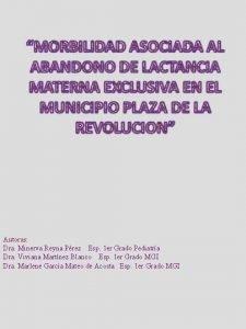 Autoras Dra Minerva Reyna Prez Esp 1 er