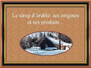 Le sirop drable ses origines et ses produits