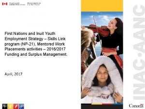 First Nations and Inuit Youth Employment Strategy Skills