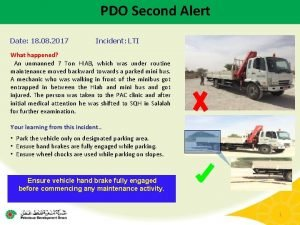 PDO Second Alert Date 18 08 2017 Incident