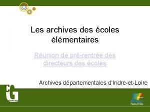 Les archives des coles lmentaires Runion de prrentre