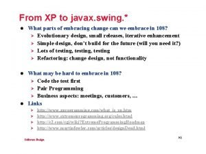 From XP to javax swing l What parts