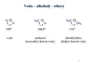Voda alkoholy ethery voda methanol monoalkyl derivt vody