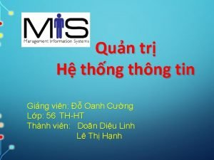 Qun tr H thng thng tin Ging vin