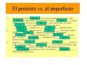 El pretrito vs el imperfecto 1 2 3