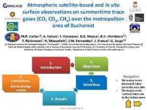 Atmospheric satellitebased and in situ surface observations on