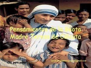 Pensamientos de la Beata Madre Teresa de Clcuta