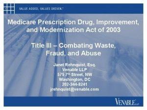 1 Medicare Prescription Drug Improvement and Modernization Act