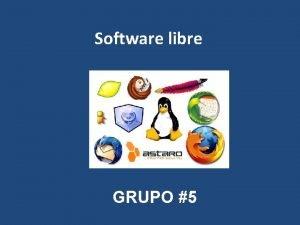 Software libre GRUPO 5 Orgenes del Software Libre