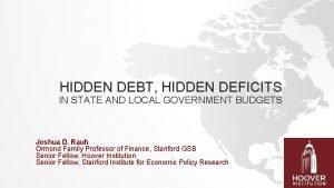HIDDEN DEBT HIDDEN DEFICITS IN STATE AND LOCAL