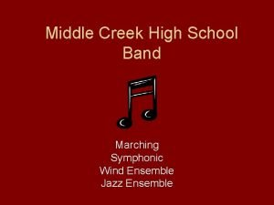 Middle Creek High School Band Marching Symphonic Wind