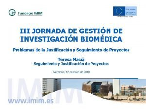 III JORNADA DE GESTIN DE INVESTIGACIN BIOMDICA Problemas