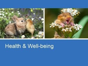 Health Wellbeing Wellbeing is when you are Happy