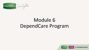 Module 6 Depend Care Program Module Profile Overview