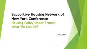 Supportive Housing Network of New York Conference Housing
