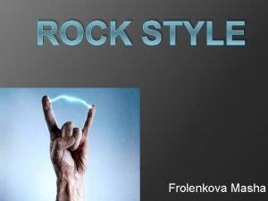 ROCK STYLE Frolenkova Masha Hard rock print crosses