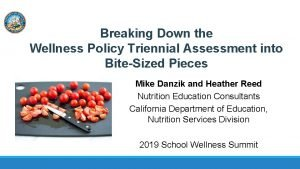 Breaking Down the Wellness Policy Triennial Assessment into