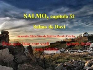 SALMO captulo 52 Salmo de Davi na verso