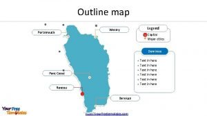 Outline map Legend Wesley Portsmouth Capital Major cities