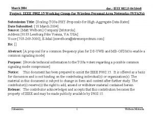 March 2004 doc IEEE 802 15 04164 r