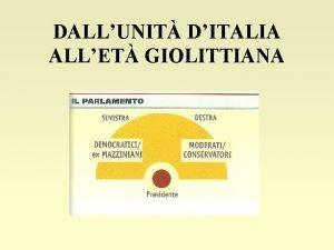 DALLUNIT DITALIA ALLET GIOLITTIANA LA DESTRA STORICA La
