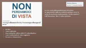 Marina Marino Liceo F Cecioni Livorno La crisi