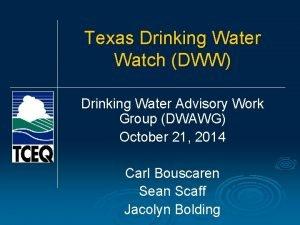 Texas Drinking Water Watch DWW Drinking Water Advisory