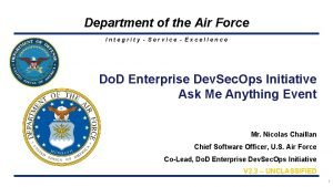 Department of the Air Force Integrity Service Excellence