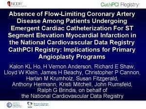 Absence of FlowLimiting Coronary Artery Disease Among Patients