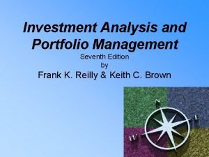 Investment Analysis and Portfolio Management Seventh Edition by