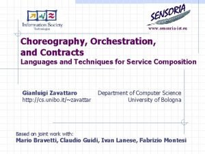 www sensoriaist eu Choreography Orchestration and Contracts Languages