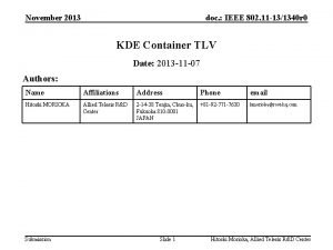 November 2013 doc IEEE 802 11 131340 r