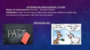 ATIVIDADES DE LNGAU INGLESA 9 ANO Objeto de