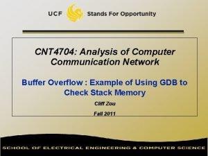 CNT 4704 Analysis of Computer Communication Network Buffer