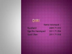 Nama kelompok Rusdianti 2009 71 010 Ega Ria