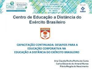 Centro de Educao a Distncia do Exrcito Brasileiro