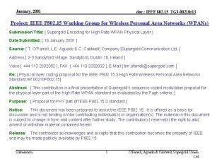 January 2001 doc IEEE 802 15TG 3 00210