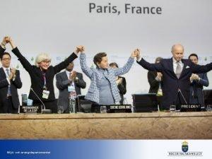 Milj och energidepartementet Parisavtalet allra viktigast Bindande avtal