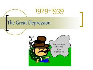 1929 1939 The Great Depression Impacts of Depression