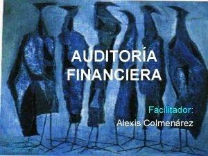 AUDITORA FINANCIERA Facilitador Alexis Colmenrez EFREN ORDOEZ Pjaros