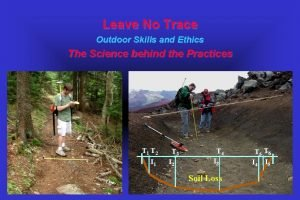 Leave No Trace Outdoor Skills and Ethics The