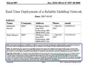 March 2007 doc IEEE 802 11 07 0297