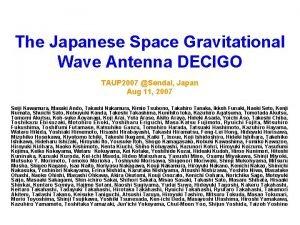 The Japanese Space Gravitational Wave Antenna DECIGO TAUP