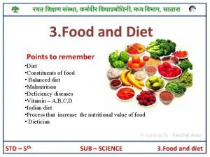 3 Food and Diet Points to remember Diet