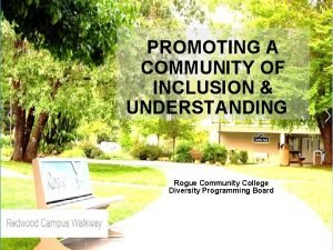 PROMOTING A COMMUNITY OF INCLUSION UNDERSTANDING Rogue Community