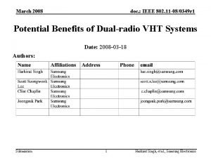 March 2008 doc IEEE 802 11 080349 r