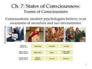 Ch 7 States of Consciousness Forms of Consciousness