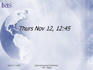 Thurs Nov 12 12 45 Nov 8 17